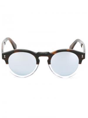 Солнцезащитные очки Leonard Illesteva. Цвет: металлический