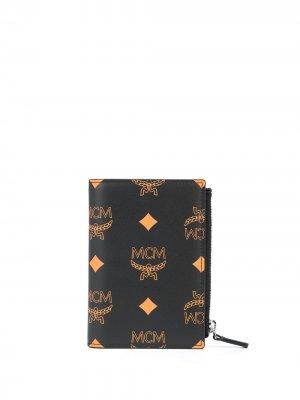 Картхолдер на молнии с монограммой MCM. Цвет: черный