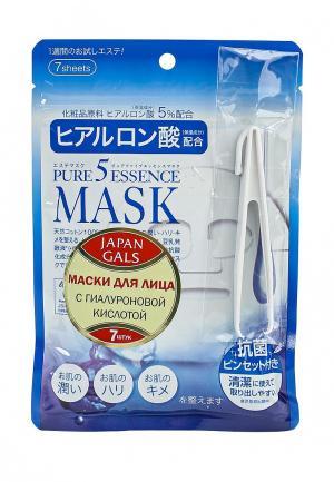 Набор масок для лица Japan Gals с гиалуроновой кислотой Pure5 Essential, 7 шт