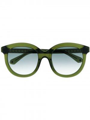 Солнцезащитные очки Lillian с градиентными линзами Kate Spade. Цвет: зеленый