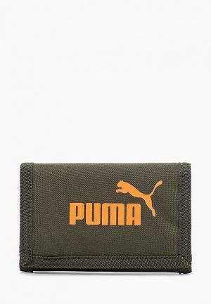 Кошелек PUMA Phase Wallet. Цвет: хаки