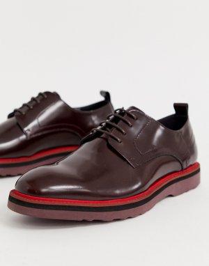 Замшевые туфли на толстой подошве со шнуровкой -Коричневый Lambretta