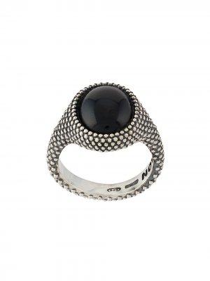 Перстень с декоративным камнем Nove25. Цвет: серебристый