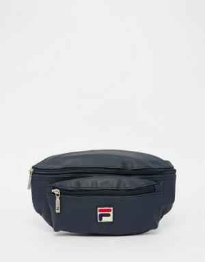 Сумка-кошелек на пояс Vintage Fila. Цвет: синий