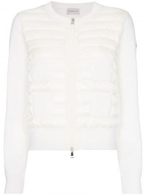 Утепленная куртка-бомбер Maglia Tricot Moncler