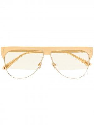 Солнцезащитные очки с затемненными линзами TOM FORD Eyewear. Цвет: золотистый