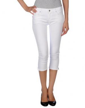 Джинсовые брюки-капри CITIZENS OF HUMANITY. Цвет: белый