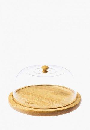 Купол для блюда Oriental way 24*24 см. Цвет: бежевый