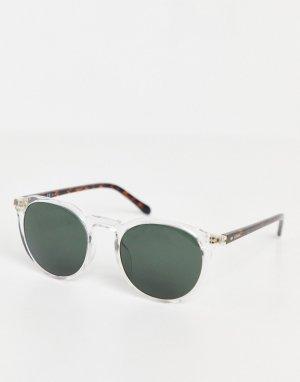 Солнцезащитные очки в прозрачной оправе 3110/G/S-Прозрачный Fossil