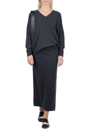 Пуловер Allude. Цвет: темно серый