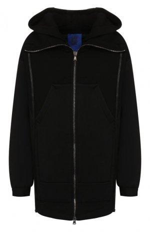 Удлиненная куртка Roque. Цвет: чёрный