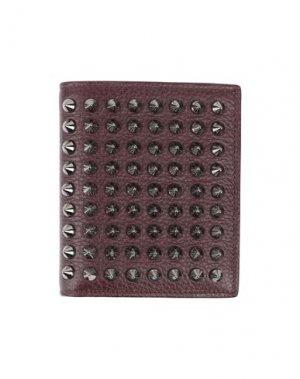 Бумажник CHRISTIAN LOUBOUTIN. Цвет: темно-коричневый
