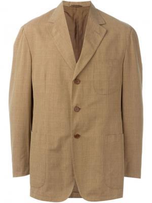 Пиджак в клетку Romeo Gigli Vintage. Цвет: коричневый