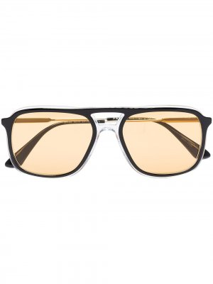 Солнцезащитные очки в прямоугольной оправе Prada Eyewear. Цвет: черный