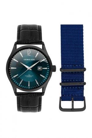 Наручные часы GEORGE KINI. Цвет: синий