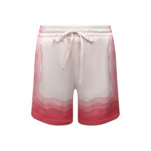 Шелковые шорты Casablanca. Цвет: розовый