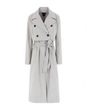 Легкое пальто DONNA KARAN. Цвет: светло-серый