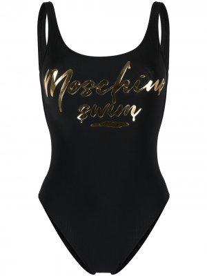 Купальник с логотипом Moschino. Цвет: черный