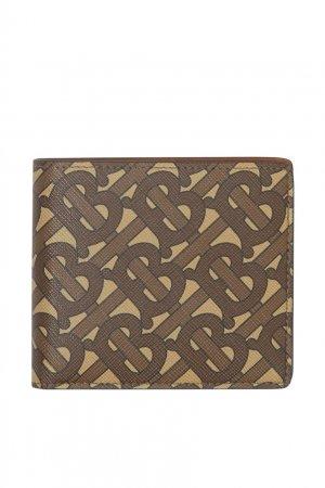 Мини-портмоне с монограммой TB Burberry. Цвет: коричневый
