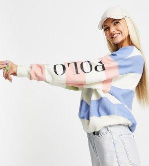 Эксклюзивный свитшот в полоску стиле колор блок x ASOS-Разноцветный Polo Ralph Lauren