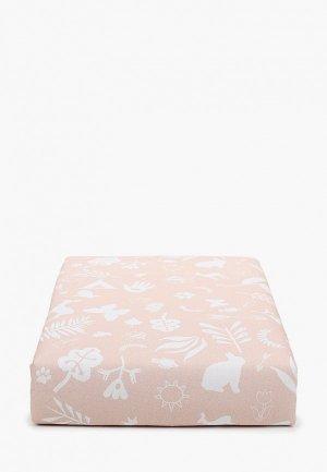 Одеяло детское Заяц на подушке с наполнителем, 80х120 см. Цвет: бежевый