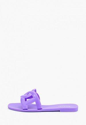 Сланцы GLAMforever. Цвет: фиолетовый