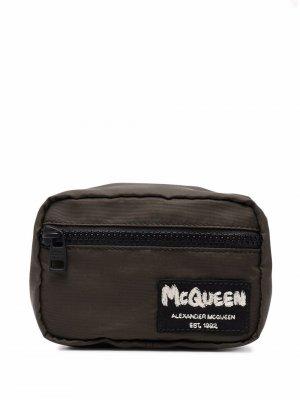 Подвеска McQueen Tag Alexander. Цвет: зеленый