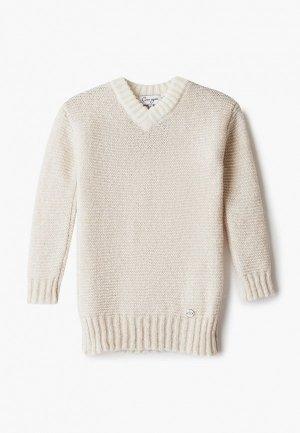 Пуловер Снег Идёт. Цвет: бежевый