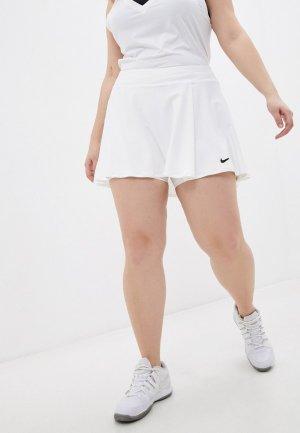 Юбка Nike W NKCTDF VCTRY FLNCY SKRT PLS. Цвет: белый