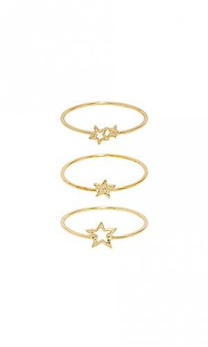 Кольца super star gorjana. Цвет: металлический золотой