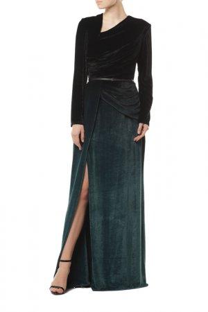 Платье Elie Saab. Цвет: black-deep grn