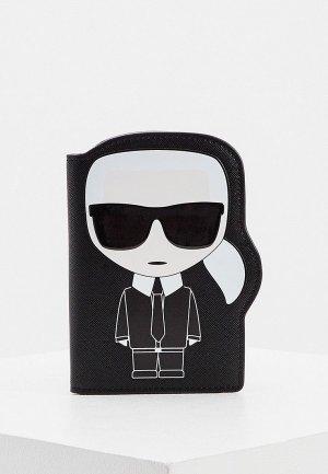 Обложка для документов Karl Lagerfeld IKONIK. Цвет: черный