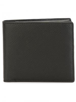 Квадратный бумажник Smythson. Цвет: черный