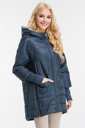 Длинная утепленная женская куртка с капюшоном Garioldi. Цвет: синий