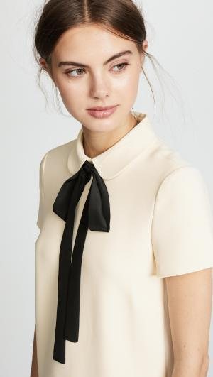 Bow Tie Collared Dress RED Valentino