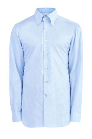 Рубашка KITON. Цвет: голубой