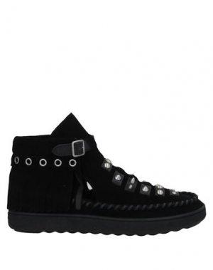 Полусапоги и высокие ботинки COACH. Цвет: черный