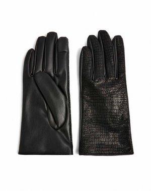 Перчатки TOPSHOP. Цвет: черный