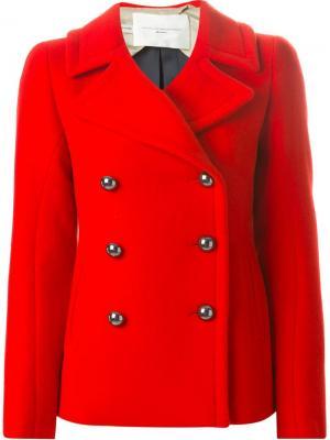 Двубортная куртка Aquilano.Rimondi. Цвет: красный