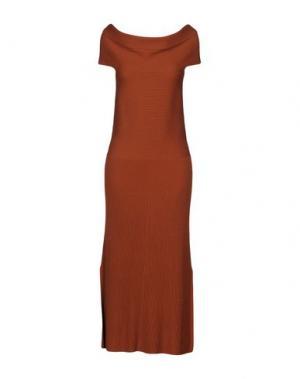 Платье миди ELIZABETH AND JAMES. Цвет: коричневый