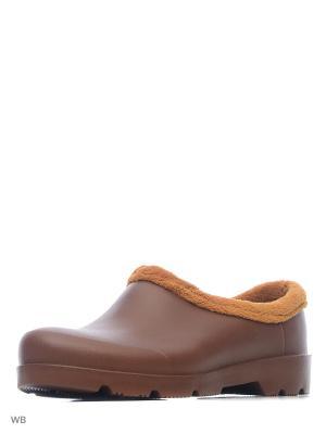 Галоши OYO. Цвет: коричневый, оранжевый