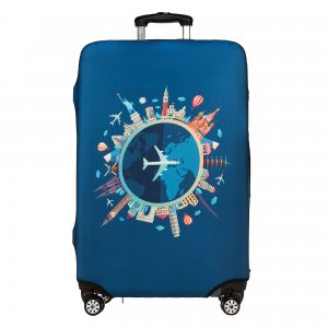 Др.Коффер LC-004L lt-blue чехол для чемодана Dr.Koffer