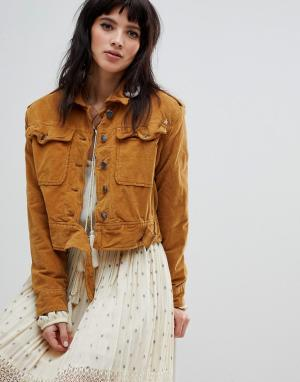 Джинсовая куртка Everlyn-Оранжевый Free People