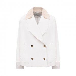 Джинсовая куртка Lanvin. Цвет: белый