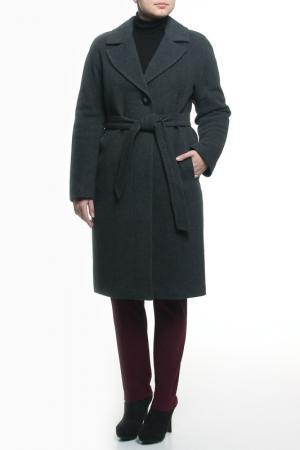 Пальто LANITA. Цвет: серый