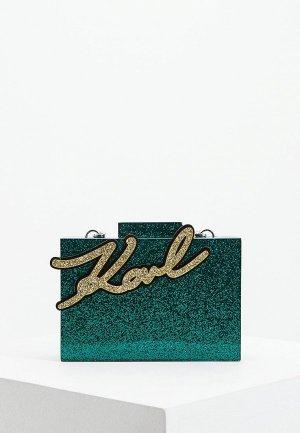 Клатч Karl Lagerfeld. Цвет: зеленый