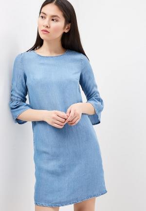 Платье джинсовое Sela. Цвет: голубой