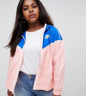 Розово-синяя ветровка Plus Nike. Цвет: розовый