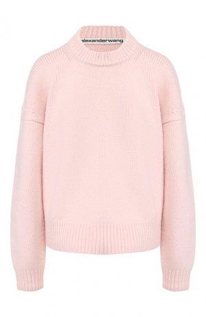 Шерстяной свитер Alexander Wang. Цвет: розовый