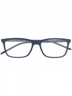 Очки в прямоугольной оправе Dolce & Gabbana Eyewear. Цвет: синий